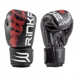 Rinkage Mysterium Gants de boxe Color  Noir-Rouge Size 12 OZ