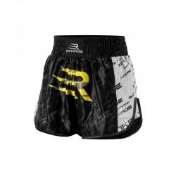 Rinkage Shiva Short kick boxing Color Noir-Jaune Size S