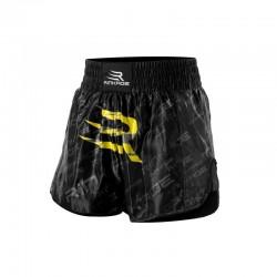 Rinkage Shiva Short kick boxing Color Noir-Jaune Size XL